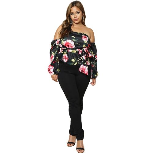 Moda Mulheres Plus Size Calças de lápis sólido Bolsos de cintura elástica Slim Casual Breves Calças compridas Pantalon Black