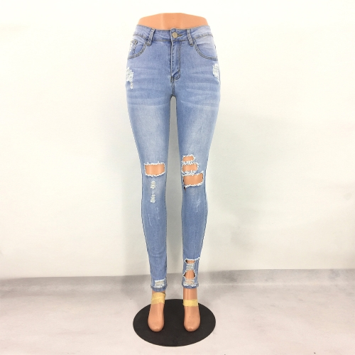 Women Jeans Stretch Washed...