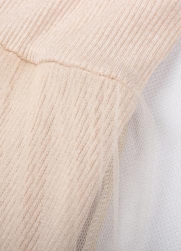 Женщины вязать фигурист платье сетчатый слой с длинными рукавами V шеи A-Line платье высокой талии платье фото