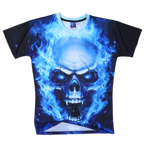 Camiseta de verano de manga corta 3D floja de la moda Impresión viva para hombres y mujeres