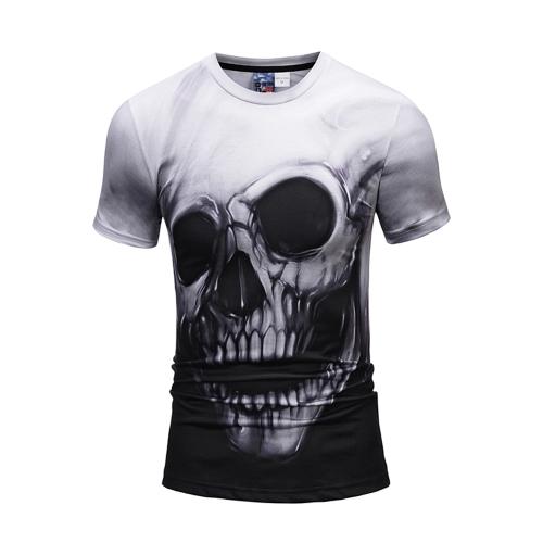 Moda 3D manga curta T-shirt Vivid Printing Pattern Loose Style para homens e mulheres