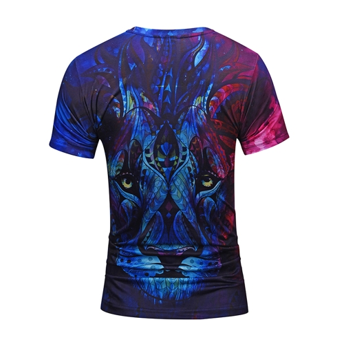 3D Short Sleeve T-shirt Vivid Printing Pattern Loose Tops