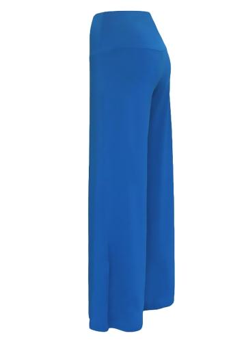 TOMTOP / Mulheres Casual Calças de perna larga de cintura alta Calças laterais com calças largas
