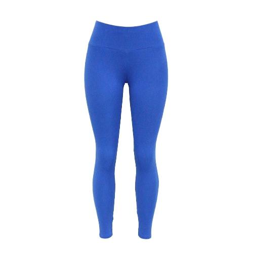 Polainas de las mujeres Deportes maciza natural elástico de deporte aptitud del entrenamiento de yoga Pantalones Pantalón ajustado Bodycon