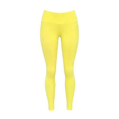Mulheres Leggings Esportes contínuo liso elástico Sportswear aptidão do exercício Yoga BODYCON Skinny Calças Calças