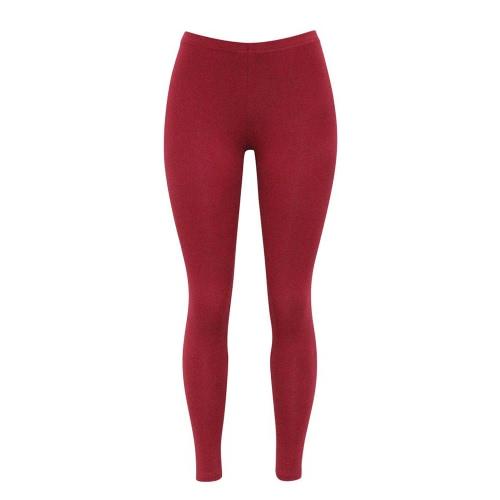 Nuevo algodón de las mujeres de las polainas del color sólido flaco elástico de la cintura elástico de las medias de los pantalones de Jeggings de Bodycon