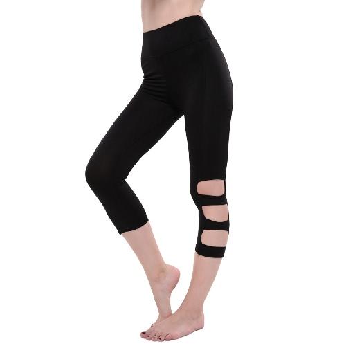 High Waist Cut Out Elastic Sports Fitness Leggings