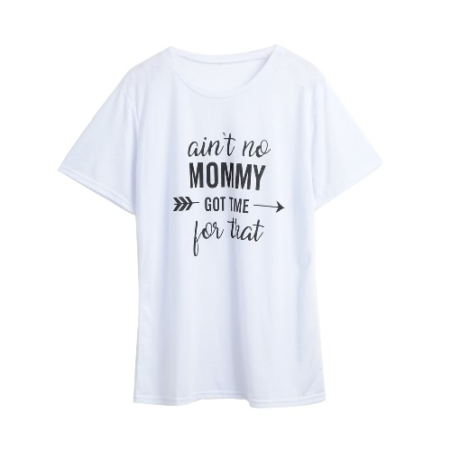 New Summer Printed Letter O Neck Short Sleeve Casual T-Shirt