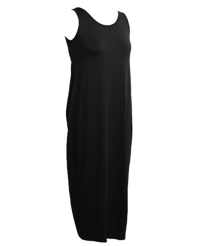 Платье для женщин Boho Платье Backless Round Neck Sleeveless Long Maxi Платье Повседневный пляж Holiday Sundress фото