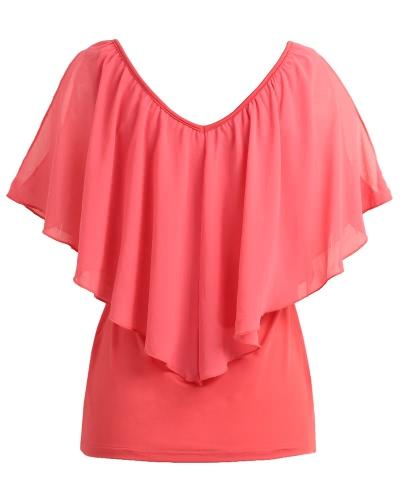 Сексуальная женская блузка V шеи Холодные наплечные ремни без рукавов Твердые футболки Жилет танк Летние повседневные топы фото