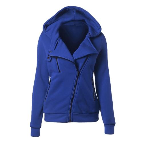 New Women Hoodies Sweatshirt Otoño Invierno manga larga con cremallera abrigo de capa Abrigo Warm Tracksuit Streetwear