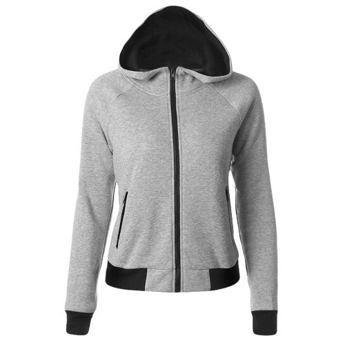New Women Hoodies Sweatshirt Otoño manga larga con cremallera Hooded Coat Abrigo Streetwear Top