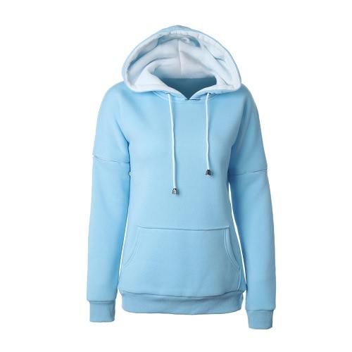 Moda Damskie Bluzy z Kapturem Bluzy z Krótkim Rękawem Krótkie Rękawiczki Kieszonkowe Ciążowe Warm Pullover Bluzy z kapturem