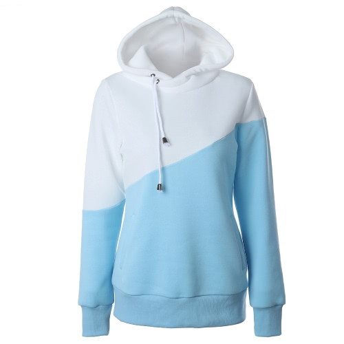 Fashion Women Hooded Sweatshirts Crochet Long Sleeve Pockets Casual Hoodie Pullover
