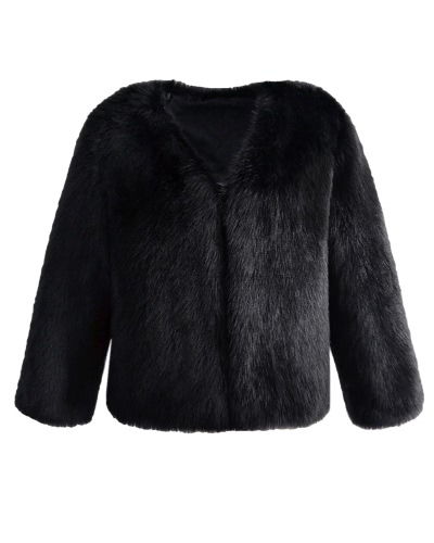 Mulheres Inverno Casaco de peles Casacos de manga comprida Casacos de pele Faux Casaco de estilo curto Casaco macio e macio
