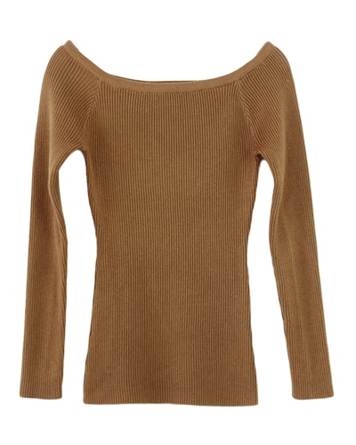 Autumn Winter Basic Women Sweater Slash Neck Solid Knitted Slim Pullover Thin Long Sleeves Sweater Top
