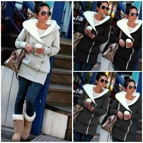 Новые осенние зимние женские толстовки с капюшоном с теплым пальто с капюшоном с капюшоном с капюшоном с капюшоном Повседневная длинная куртка плюс размер фото