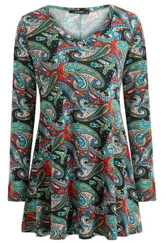 Camiseta de manga larga con estampado holgado y estampado flojo de Mixfeer para mujer