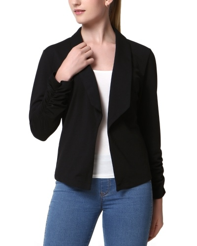Mixfeer Women's Casual Work Office Open Front Cardigan Blazer Jacket