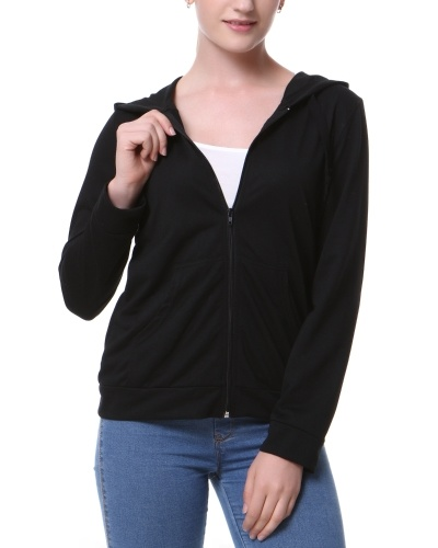 Mixfeer Women's Hoodie Jacket With Thin Cotton Full Zip