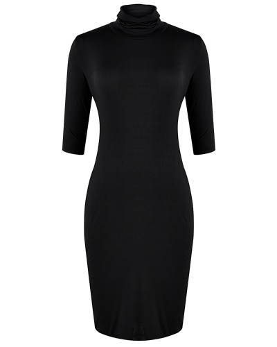 Mixfeer Turtleneck Jersey Dress