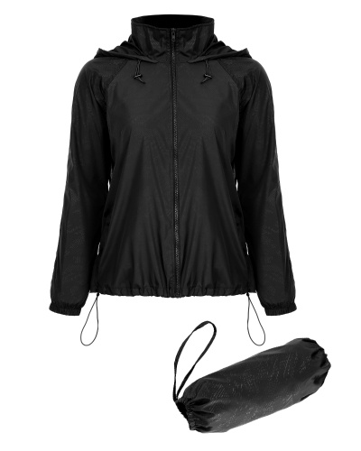 Mixfeer Lightweight Rainwear Active Outdoor Hoodie Cycling Running Windbreaker Jacket  Black