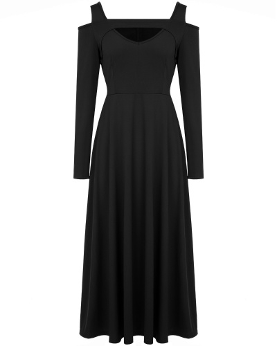 Women's V Neck Cap Sleeve Cold Shoulder Full Length Maxi Formal Party Dress S
