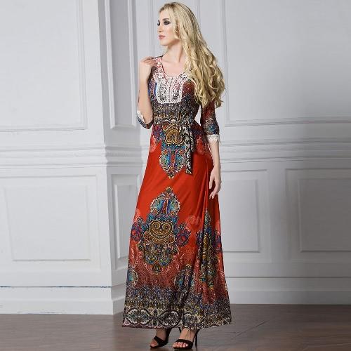 Mujeres bohemias vestido de talla grande