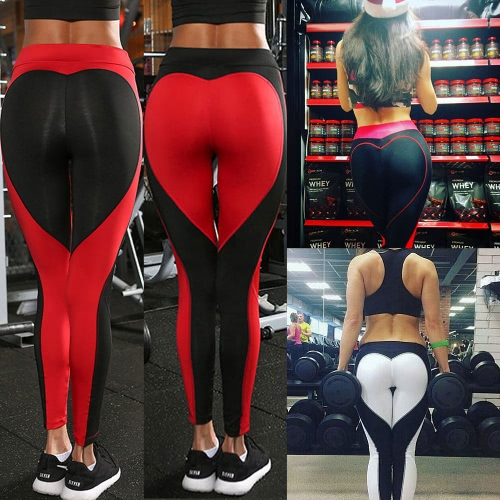 Sexy Women Slim Leggings Sport Yoga Contrast Color Splice Casual Fitness Skinny Pencil Pants Trousers