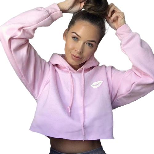 Las nuevas mujeres ponen en cortocircuito la capa de las sudaderas con capucha de la capa de la chaqueta de la prendas de vestir exteriores del otoño