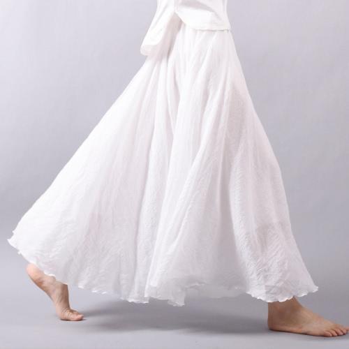 La nueva falda larga de la manera de las mujeres de la manera plisó la cintura elástico Maxi elegante A - alinee la falda de Bohemia