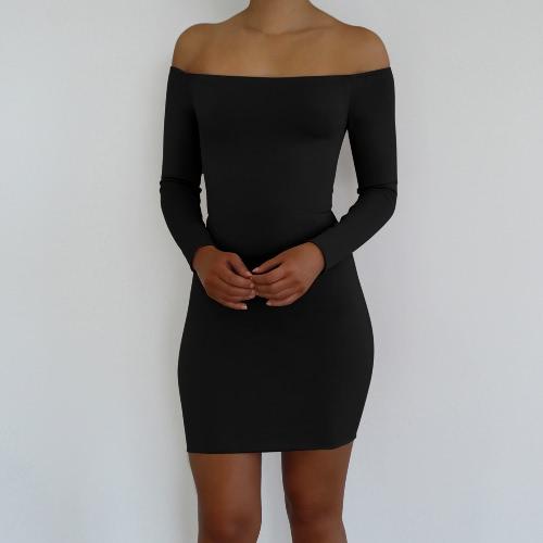 Frauen Bodycon aus Schulter Kleid schnüren sich oben öffnen Rücken ...