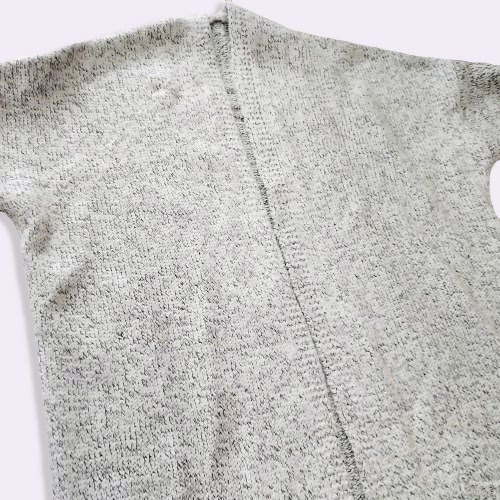 Fashion Autumn Winter Women Loose Kitted Cardigan Sweater Front Pockets Long Sleeve Knitting Coat Outerwear Grey