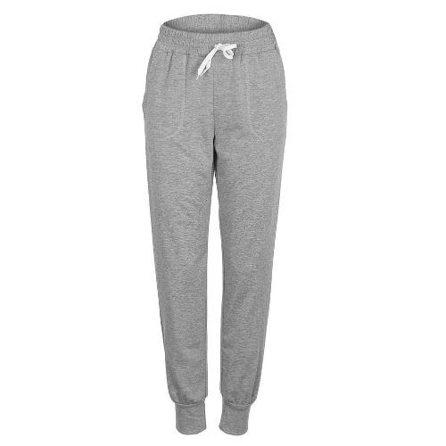 Mulheres Sport Yoga Trousers Elastic Waist Drawstring Pockets Outdoor Running Casual Sportswear Top Pants