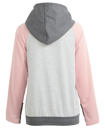 Felpe con cappuccio con cappuccio Felpa con cappuccio Splicing a colori Maniche lunghe Tasche anteriori Pullover di Hoody Outwear