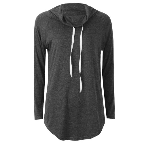 Women Solid Long Sleeve T-Shirt Casual Sweatshirt High Neck Autumn Pullover Top Rose/Dark Grey/Blue