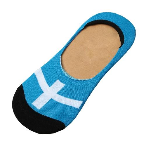 1 par mulheres homens sem meias Show corte baixo de calcanhar de silicone invisível não escorregar barco Loafer meias