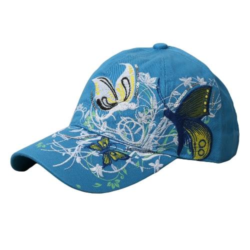 Nowe mody Kobiety Cap wzór haftu Buckle Powrót Flat Hat Baseball Hip-Pop Cap