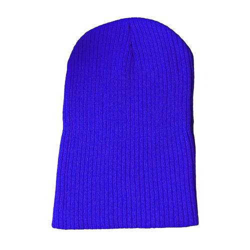 Moda Mężczyźni Kobiety Plain Knit Beanie Hat Czapka zimowa Ciepły Jednolity kolor Unisex Hip-pop slouchy Skull Hat