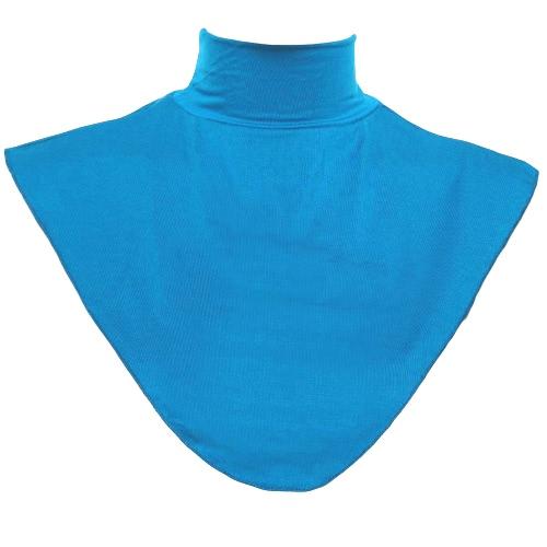 New Fashion Muslim Scarf Fake Collar Solid Color Elastic Neck Casual Shawl