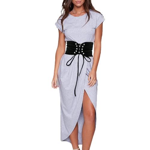 Cinturón de la vendimia de las nuevas mujeres de la manera Cinta de la correa de la cintura del gancho del uno mismo-corbata blanco / negro
