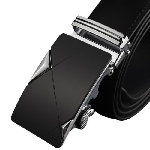 Moda Diseño Moderno Correa de Cuero Cinturón de Negocios Casual Aleación de Zinc Hebilla Automática Pantalones Masculinos Ocio Cintura para Hombres Faja Cintura Ancha