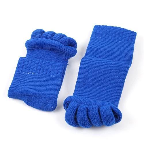 Alineación de la moda Hallux Valgus Pro Cuidado de los pies Cura Bunion Algodón Cinco dedo dedo separador Splint calcetines