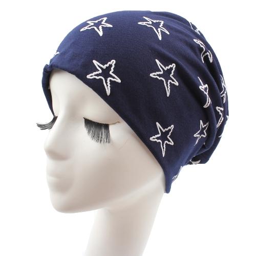Unisex Hombres Mujeres Beanie Contraste Estrellas Slouchy Baggy Casual Cool Hip Hop Headwear Skullies Hat