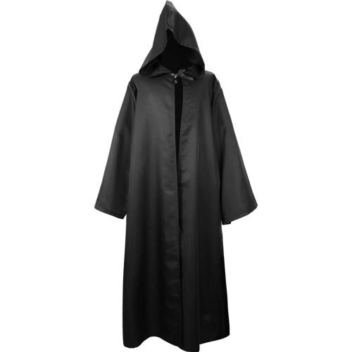 Uomo Donna Costume di Halloween Mantello in tinta unita con cappuccio a maniche lunghe tunica con cappuccio
