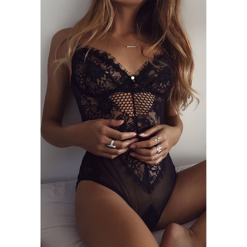 Sexy Sheer Lace Mesh Backless Women's Intimate