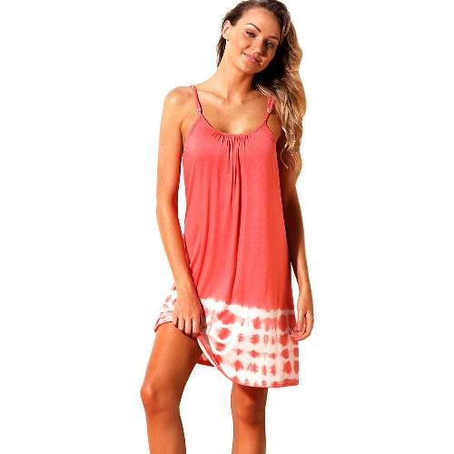 Coprispalle estive per donna Coprispalle con cinturino posteriore con stringhe Hollow Out Bikini nero / rosa