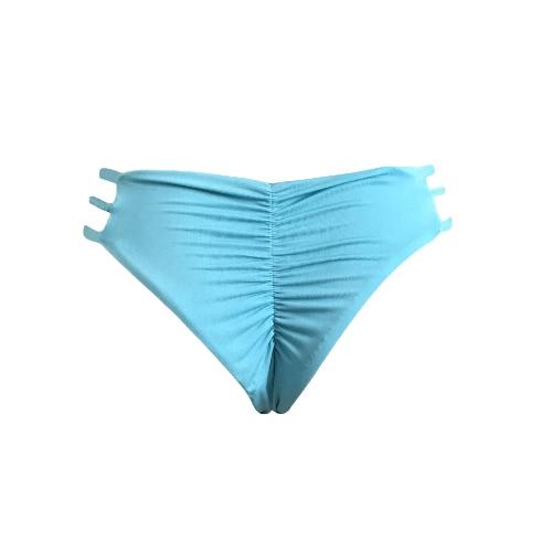 Bikini acanalado de la playa de las bragas brasileñas atractivas de la V-Forma