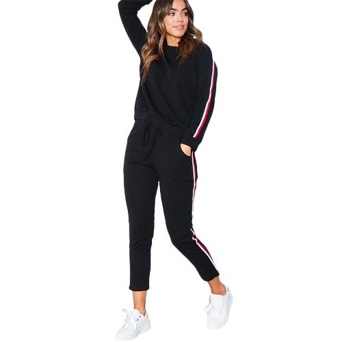 Frauen Sportswear Anzug Lässige Trainingsanzug Kostüme 2 Stück Set Plus Größe Herbst Winter Sweatshirt Kleidung