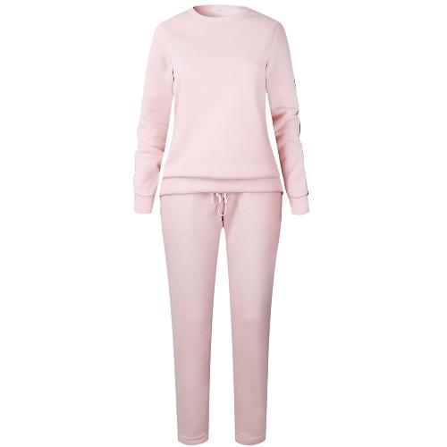 Traje de ropa deportiva de mujer Trajes de chándal ocasionales 2 piezas Set Plus Size Otoño Invierno Sudadera Ropa